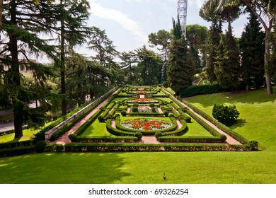 View at the Vatican Gardens in Rome, Italy