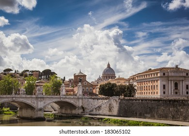 View to the Vatican, Rome, Italy