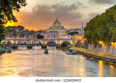 View of vatican at Sunset , in Rome