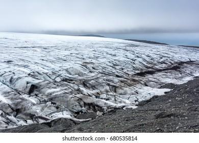 View of vatnajokull glacier in Iceland