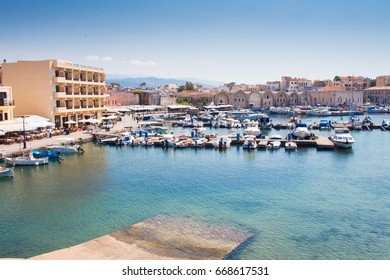 View of the Venetian port of Chania. Crete