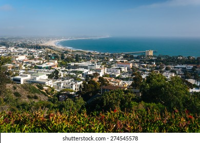 View of Ventura and the Pacific Coast from Grant Park, in Ventura, California.