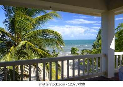 View from a veranda in the tropics