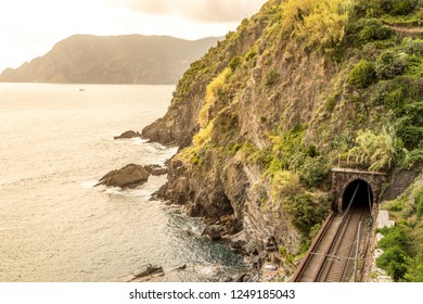 View of Vernazza railway, Italy