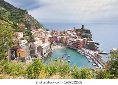View of Vernazza Village, Cinque Terre, Italy