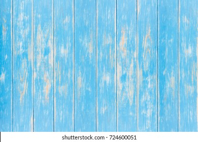 View of vertical blue wooden background