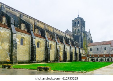 View of the Vezelay Abbey in Burgundy, France