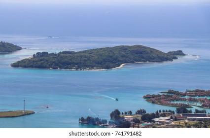 View of Victoria City. Seychelles nature. Mahe island. Dans Gallas trail