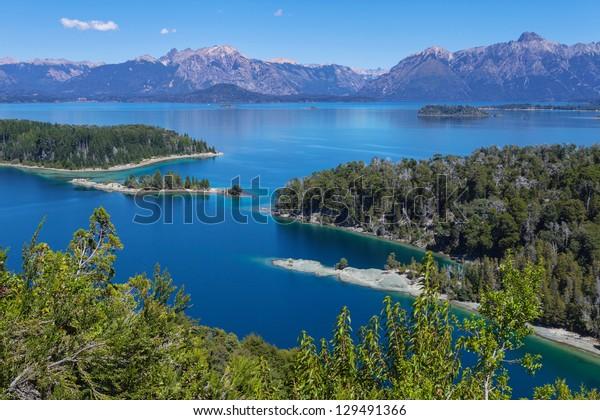 View from Victoria Island on Lake Nahuel Huapi