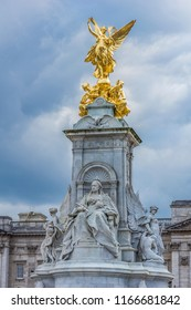 View of Victoria Memorial at Buckingham Palace. London, England.