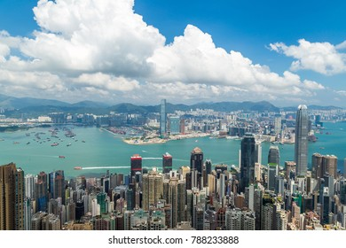 view from Victoria Peak in Hong Kong