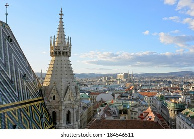 View of Vienna from the St.Stephan Cathedral.