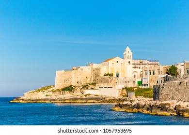 View of Vieste in Apulia region, south Italy