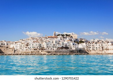 View of Vieste, Italy.  Famous landmark and touristic destination for travel in Europe