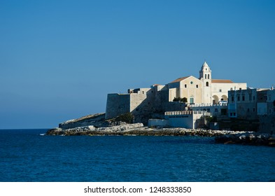 View of Vieste, Italy on the sea