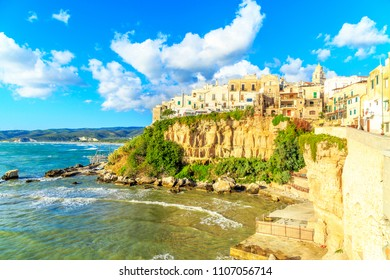 View of Vieste in south part of Italy, Apulia, Italy