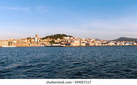 A view of Vigo from the sea (Galicia, Spain)