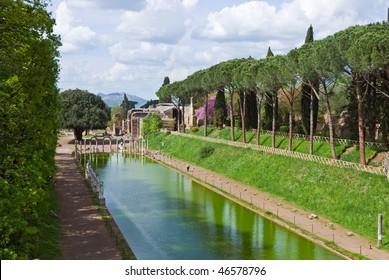 View of Villa Adriana, Tivoli, Lazio, Italy