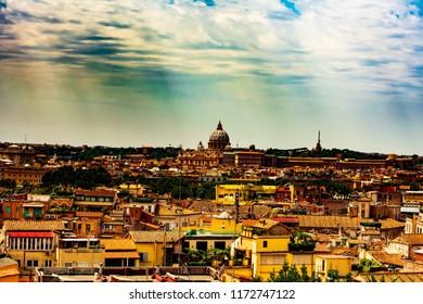 View from villa Medici , Rome