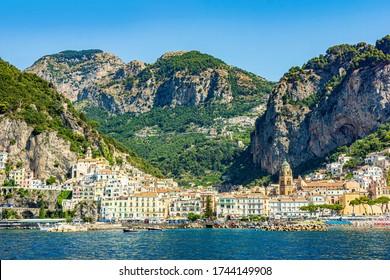 View of the Village of Amalfi, Amalfi Coast, Italy, Europe