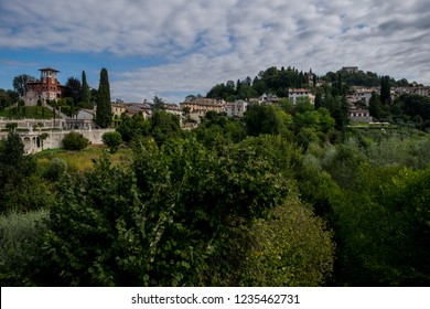 A view of the village of Asolo, Italy. Asolo is a town in the province of Treviso, in the northern Italian region of Veneto