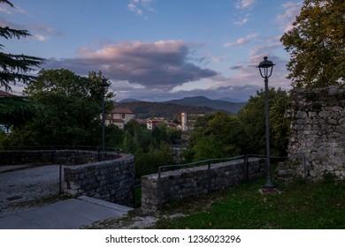 A view of the village of Cividale del Friuli, Friuli Venezia Giulia, Italy. The most beautiful villages of Italy.