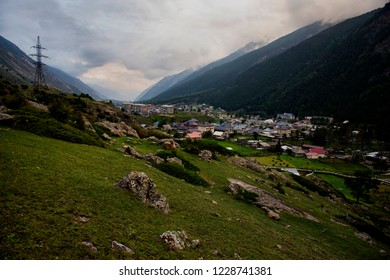 View of the village Elbrus. Kabardino-Balkaria, Russian Federation