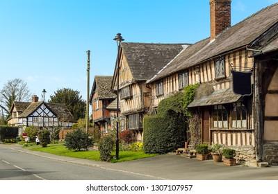 A view of the village of Pembridge, UK