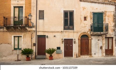 A view of the village of Sambuca di Sicilia, Italy. Sambuca di Sicilia is a municipality in the Province of Agrigento in the Italian region Sicily,