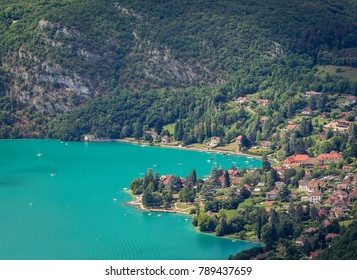 View of the village of Talloires from above