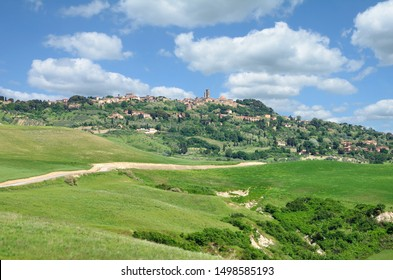 view to Village of Volterra in Tuscany,Italy