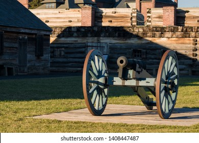 View of Vintage Cannon at Fort Stanwix National Monument