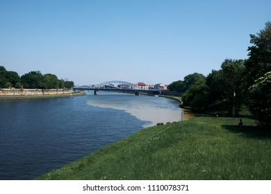 view of the Vistula River in Krakow