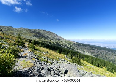 View at Vitosha Mountain. Near Sofia, Bulgaria