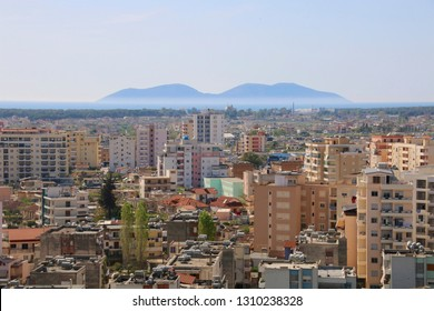 View of Vlora Albania Cityscape Panorama