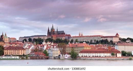 View of Vltava and Old Prague. Czech republic