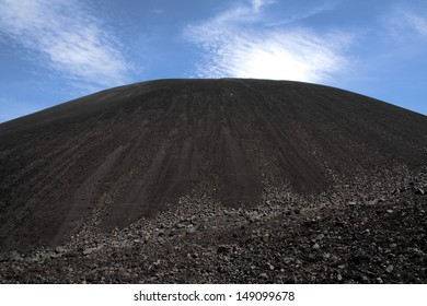 A view of Volcano Cerro Negro from the bottom.  A popular spot for volcano boarding and hiking.