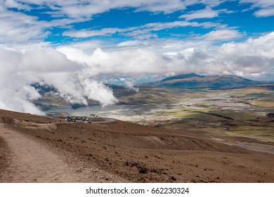 View from volcano Cotopaxi, Ecuador