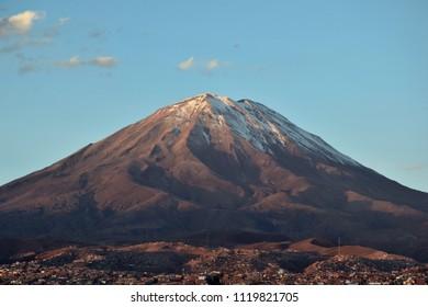 View of Volcano Misti in Arequipa, Peru
