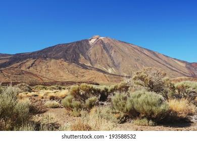 View of the volcano Pico de Teide, Tenerife