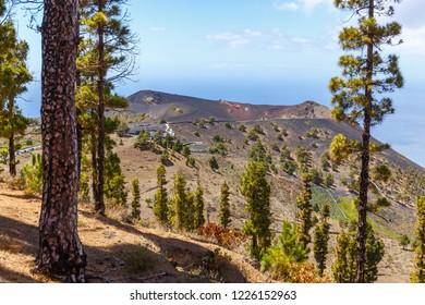 View of Volcano San Antonio in La Palma, Canary Islands