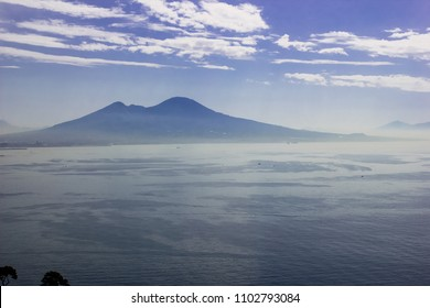 view of the volcano Vesuvius in Naples