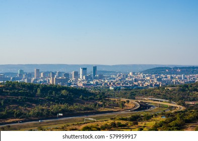The view from Voortrekker Monument of Pretoria, Gauteng, Republic South Africa.