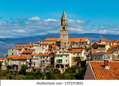 View to Vrbnik town on Krk island, Croatia