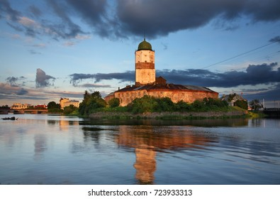 View of Vyborg castle. Russia