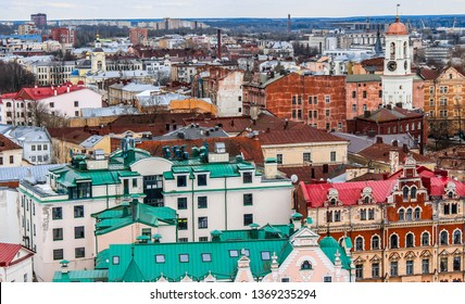 View of the Vyborg from the St. Olaf tower of Vyborg Castle, Leningrad region, Russia