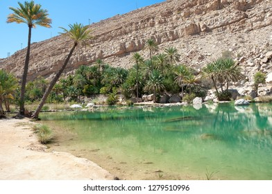 View of Wadi Bani Khalid - Omani desert - Sultanate of Oman