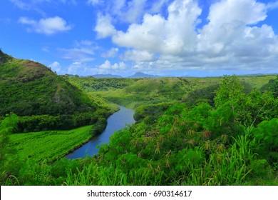 View of Wailua River - Kauai