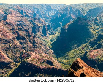 View to Waimea Canyon State Park on Island Kauai, Hawaii.
