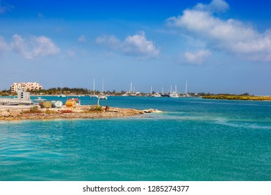 The view from Walkin Marina, looking towards Blue Haven Marina, Providenciales, Turks and Caicos